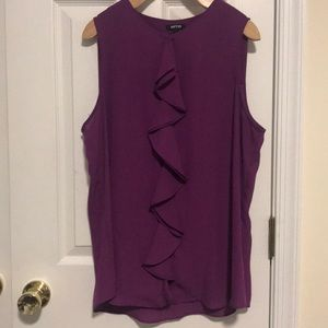 *LIKE NEW!* Purple Tank Top with Ruffle